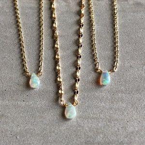 Jewelry - JUST IN!! Opal Gemstone 14K Gold Boho Chokers